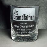 Grandfather Crystal Whisky Glass, PERSONALISED, ref GFCW